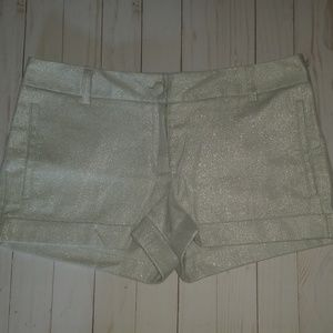 Express White and Silver Shorts